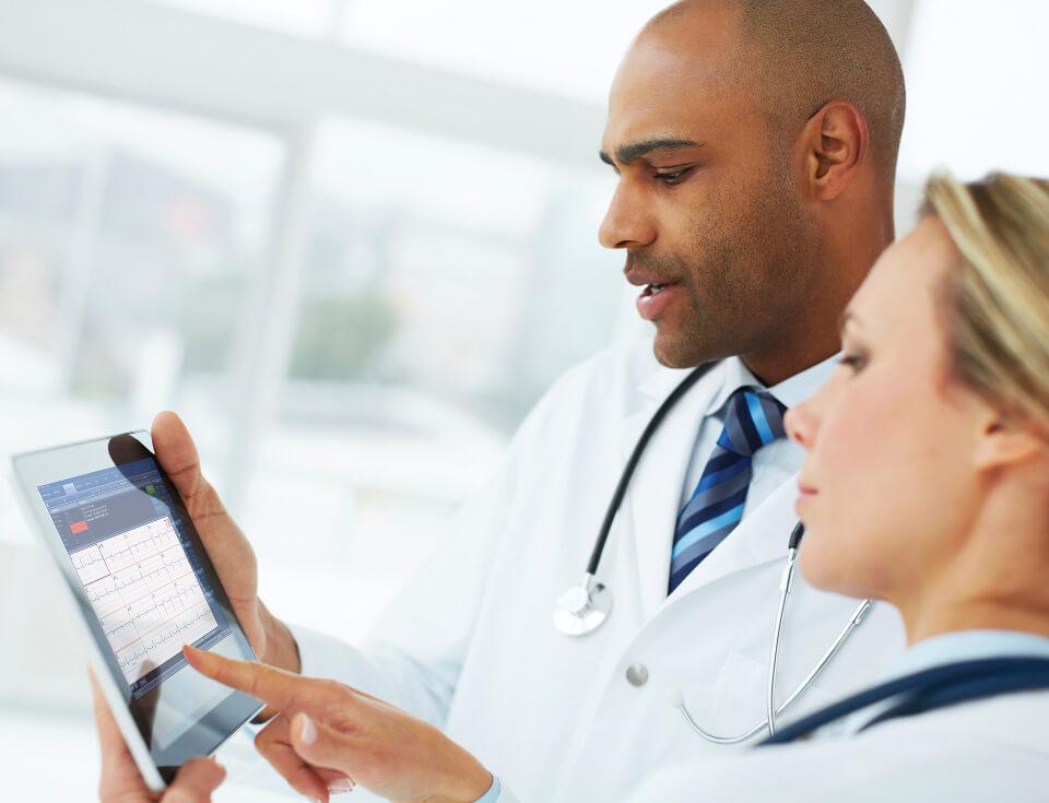 Cardiology ECG on an iPad