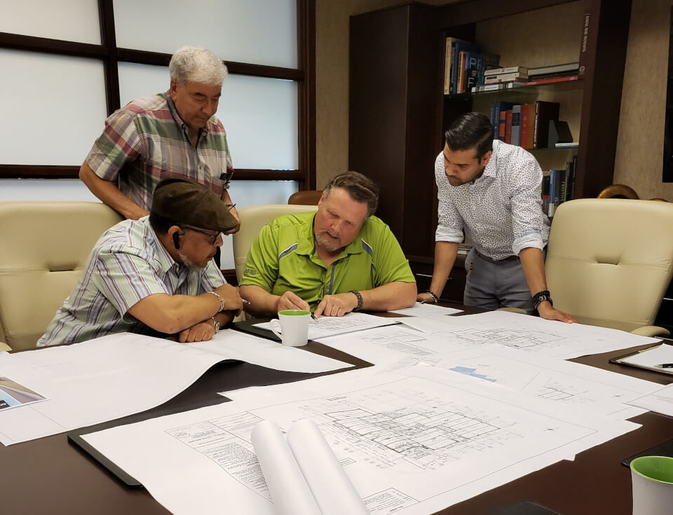 DCL engineering team planning, designing sustainable and environmentally friendly medical, healthcare facilities